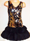 GIRLS BLACK & SILVER SEQUIN CHIFFON PETALS EVENING OCCASION DANCE PARTY DRESS