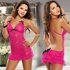 Fashion Women Sexy Lingerie G-string Lace Dress Underwear Babydoll Sleepwear EN2