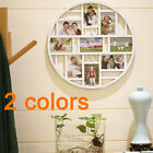 6x4'' 9 Grid Circular Collage Photo Frame Holds Hanging Pictures Wall Home Decor