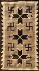 Museum Quality NAVAJO CRYSTAL RUG, Bordered WHIRLING LOGS with VALERO STARS, NR!