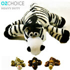 Heavy Duty Pet Puppy Dog Plush Throw Play Toy giraffe leopard rat zebra