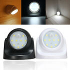Sensor Light 9 LEDs White Motion Activated Wireless In/Outdoor Wall Garden Lamp