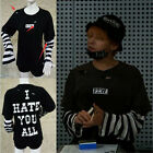 KPOP Bigbang G-Dragon T-shirt I Hate You Tshirt Unisex Cotton Tee Short Sleeve