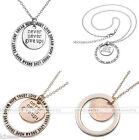 Gift never never give up/LOVE DREAM HOPE TRUST Self-Motivation Pendant Necklace