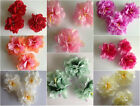 3 Large Artificial Simulation Fabric  Peony Flower Head 8 cm