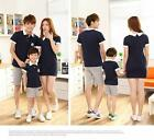 1set Women Men Kids child cotton summer Polo T shirt & shorts Top Tees suit TN54