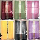 Voile Window Curtain Door Room Divider Sheer Panel Drapes Scarf Curtains Panels