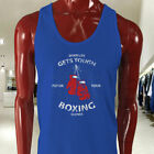 PUT ON YOUR BOXING GLOVES BOXER FIGHT CHAMP TOUGH Mens Blue Tank Top