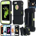 Outdoor Defence Case Armor Cover for Apple iPhone 5 5S SE W/ Belt Clip Holster