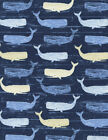 Timeless Treasures Whales Cotton Quilt Fabric