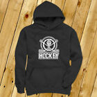 HOCKEY EMBLEM ICE SKATE WINTER SPORTS PUCK STICKS Mens Charcoal Hoodie