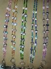 ! I LOVE KIDS ID BADGE BEADED HOLDER LANYARD CHOICE OF COLORS