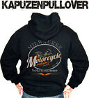 Biker Kapuzenpullover Hoodie Milwaukee Rockabilly Oldschool Bobber Chopper V8 XL