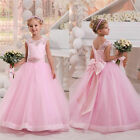 Christening Flower Girl Dress Party Prom Formal Birthday Pageant Dance Ball Gown
