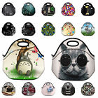 Patterns Neoprene Insulated Lunch Bag Portable Travel Picnic Tote Cooler Handbag