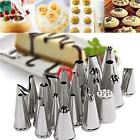 24 / 52 Icing Piping Pastry Fondant Cake Decorating Sugarcraft Nozzle Tips Set