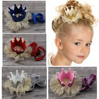 Baby Girls Princess Crown Tiara Headband Glitter Elastic Hairband Birthday Party