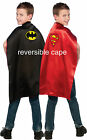Child Batman Cape / Superman Reversible Cape Superman Cape Play Dress Up 4870