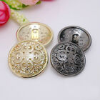 20pcs Resin Buttons Round Gold Antique Hollow Coat Sewing DIY Craft Supplies