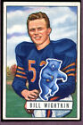 1951 Bowman Football #122 Bill Wightkin EX 94634
