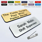 Custom ID Engraved Name Badges for Pharmacy Nurse Doctor Dentist Hospital A&E