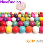 """Round Mix Color Howlite Turquoise Stone Beads For Jewelry Making Loose Beads 15"""""""