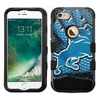 Detroit Lions #Glove Rugged Impact Armor Case for iPhone 5s/SE/6/6s/7/Plus