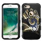 Los Angeles LA Rams #G Rugged Impact Armor Case for iPhone 5s/SE/6/6s/7/Plus