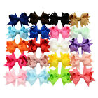 3 Inch Newborn Girls Hair Bows Alligator Clips Boutique Ribon Accessories