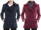 Alpine Swiss Emma Womens Peacoat Jacket Wool Blazer Double Breasted Overcoat New