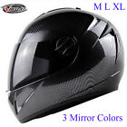 VIRTUE M L XL Carbon Fiber Motorcycle Motocross Helmet Full Face Dual Visor