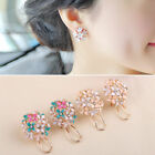 New Women Lady Fashion Elegant Crystal Rhinestone Ear Stud Earrings 1 Pair