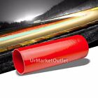 """Black-Red 3Ply Silicone 2.75"""" 8"""" Long Straight Tube for Turbo/Intake/Intercooler"""