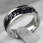 Fashion Spinner Chain Ring Men's Ring Rock Stainless Steel Chain Mens JewelryBBU