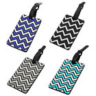 Chevron Design Rectangle Shaped Bag ID Name Label Luggage Tag
