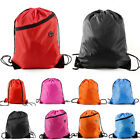 Waterproof Drawstring RuckSack Bag Sack Backpack Swim School Shoes Gym Sport Bag