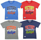 Boys Victory Campus Indigo T-Shirt Top Tee 2-16 Years CLEARANCE SALE