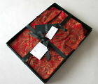 NWT Ralph Lauren Women's Red Paisley 2-Pc Pajamas Set Smooth Cotton Gift Box New