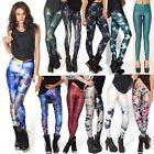 Stylish Womens Colorful Galaxy Space Printed Pattern Leggings Pants 19 Styles