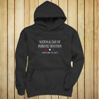 NATIONAL DAY PATRIOTIC DEVOTION PRESIDENT TRUMP Womens Charcoal Hoodie