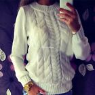 Fashion Women O-Neck Long Sleeve Pullover Slim Solid Sweater Spring Autumn EN24H