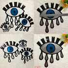 Eyeball Tattoo Biker Punk Embroidered Applique Sequins Iron On Patch Badge JR