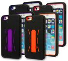 For iPhone 6 Plus, Heavy Duty Hybrid Silicone Cover with Hard Stand Case