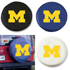 Michigan Wolverines Exact Fit Size Black, Navy, or White Vinyl Spare Tire Cover