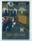 2014 Totally Certified Tre Mason Rooke Roll Call GOLD PATCH RELIC RC 6/25 RAMS