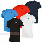 adidas Mens Performance Essentials 3S Plain climalite Cotton Crew T-shirt Tee