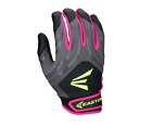 Easton HF3 Hyperskin Fastpitch Women's Batting Gloves NEW Black/Grey/Pink Large