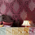 10M 3D ELEGANT LUXURY DAMASK EMBOSSED FLOCK TEXTURED NON-WOVEN WALLPAPER ROLL