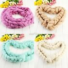 Newborn Baby Kids wool braid blanket Stuffer Carpet Basket Photography Prop S0BZ