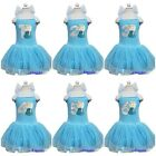 Girl Elsa Princess 1st - 6th Number Birthday Blue Ribbon Tutu Party Dress
